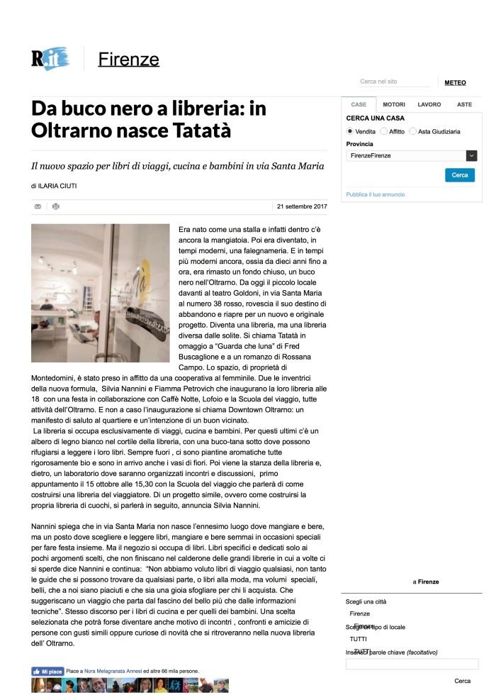 Da buco nero a libreria: in Oltrarno nasce Tatatà - Repubblica.it