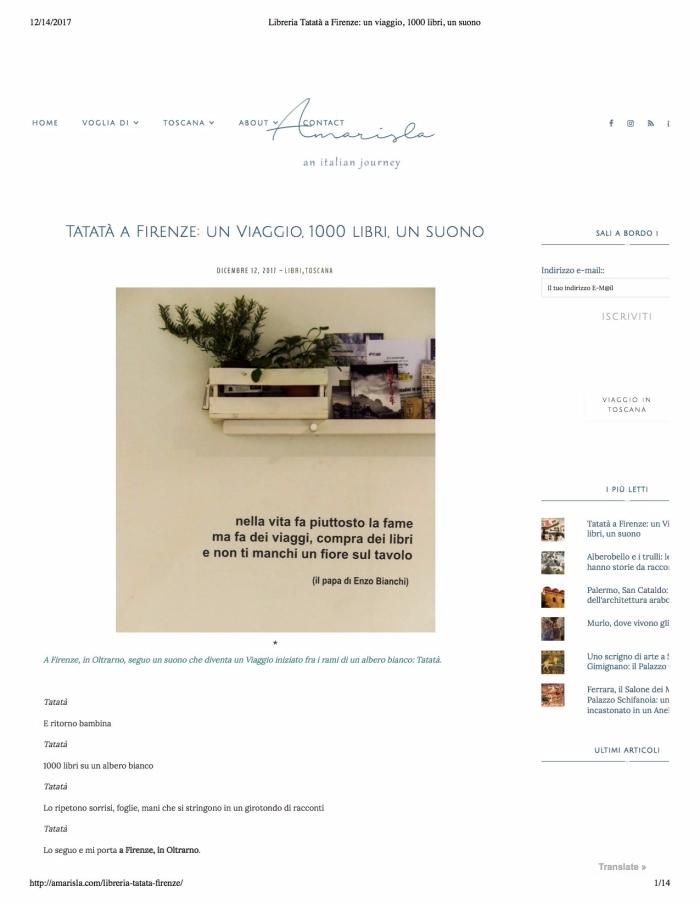 Libreria Tatatà a Firenze- un viaggio, 1000 libri, un suono copy 2